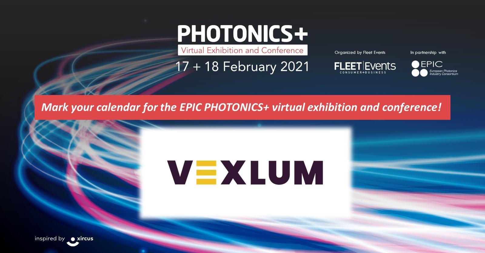 Vexlum Exhibiting at PHOTONICSPLUS